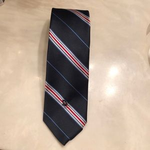 Christian Dior blue striped tie